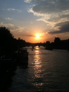 paris pont des arts sunset by sam