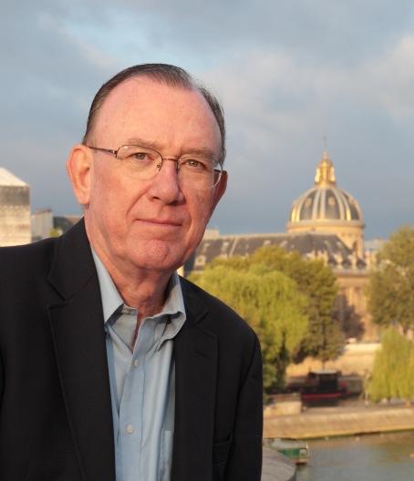 John Pearce Author portrait on Pont Neuf, Paris
