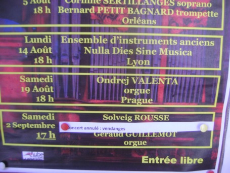 ConcertAnnuleVendange