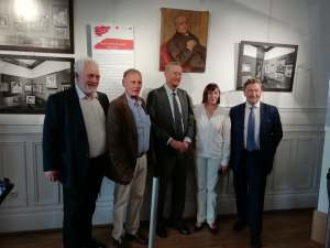 M. le Maire with Emmanuel Renoir and dignitaries at an opening at the Maison Renoir